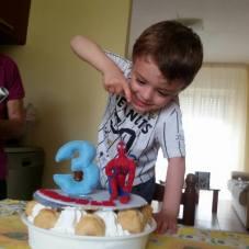 Samuele ed il suo amato Spiderman