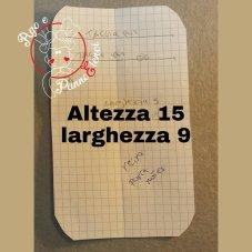 FIG. 8) CARTAMODELLO TASCA QUARTA DI COPERTINA PER BLOCCO NOTES