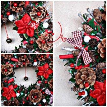 ghirlanda natalizia handmade