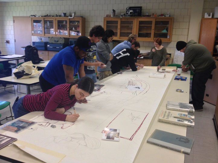 James Chisholm's class starting their mural