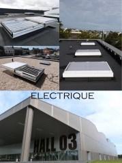 désenfumage naturel et ventilation naturelle en toiture électrique lanterneaux coulissants ouvrants de désenfumage exutoire de désenfumage électrique