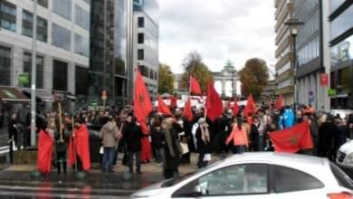 Photo of احتفال مغاربة العالم بذكرى المسيرة الخضراء من أمام مجلس الإتحاد الأوروبي ببروكسيل
