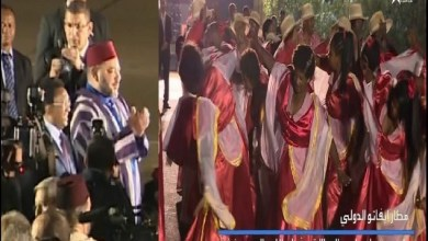 Photo of الملك محمد السادس يستمتع بفلكلور مدغشقر على الايقاعات المغربية
