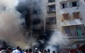 فيدو: ضحايا في حريق مهول شب بعمارة بالدار البيضاء
