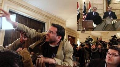 "Photo of راشق ""جورج بوش"" بالحذاء يترشح للانتخابات العراقية"