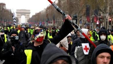 """Photo of فرنسا: توافد مئات المتظاهرين على جادة الشانزليزيه في إطار الأسبوع الخامس لتحرك """"السترات الصفراء"""""""