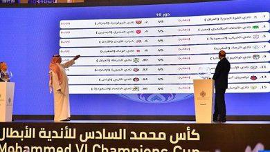 Photo of كأس محمد السادس للأندية العربية الأبطال: سحب قرعة الدور ربع النهائي الأربعاء المقبل بالرياض