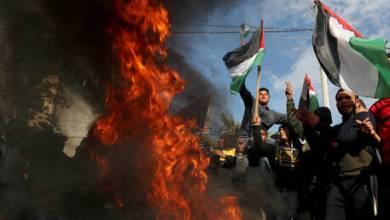 "Photo of احتجاجات فلسطينية قبيل نشر ""صفقة القرن"".. واشتباكات بين متظاهرين وجيش الاحتلال"