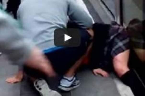 Photo of بالفيديو: تلميذة تفلت من تحت عجلات الترامواي