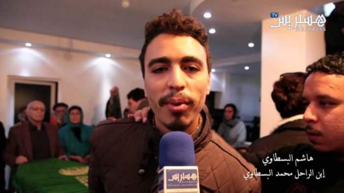 Photo of ابن الفنان الراحل بسطاوي في مأتم وعزاء والده
