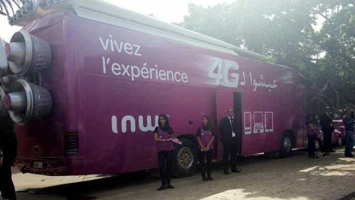 "Photo of ""الحافلات السريعة"" لشركة إينوي تجوب المغرب للتعريف ب4G"