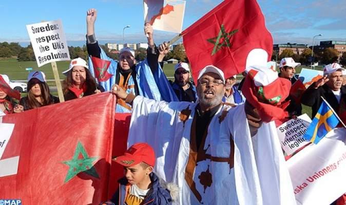 Photo of المغاربة بالبلدان الاسكندنافية يتظاهرون بكثافة بستوكهولم ضد أي انتهاك للوحدة  الترابية للمملكة