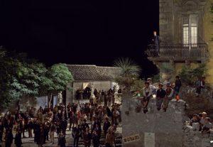 Film Il Gattopardo. Lettura plesbliscito a Donnafugata-Ciminna