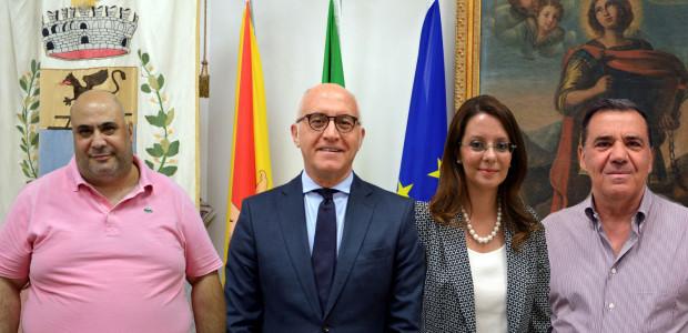 da sx: assessore Faraci, sindaco Barone, vice-sindaco Urso Miano, assessore Timo