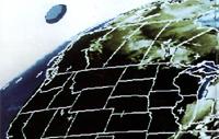Earth Orbit - Alien spacecraft in METEOSAT photo