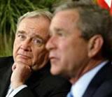 Paul Martin with U.S. President George W. Bush