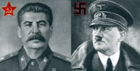 Joseph Stalin and Adolf Hitler