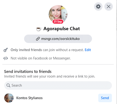 invitations in messenger room chats