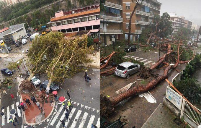 Terracina. Tromba d'aria si abbatte sul centro della città, un morto e un ferito grave
