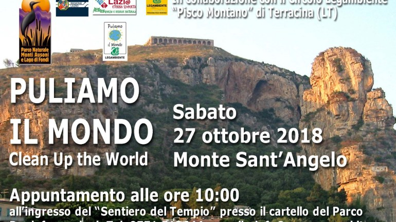 """Terracina. """"Puliamo il Mondo 2018"""", sabato 27 ottobre"""