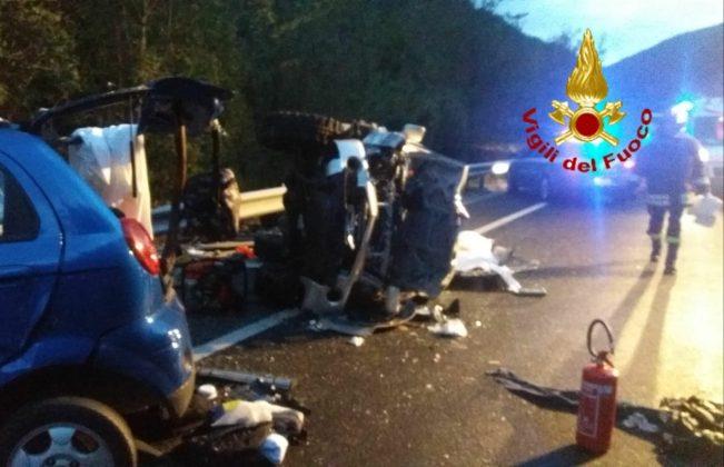 Rieti. Tragico incidente stradale con 4 morti sulla Salaria