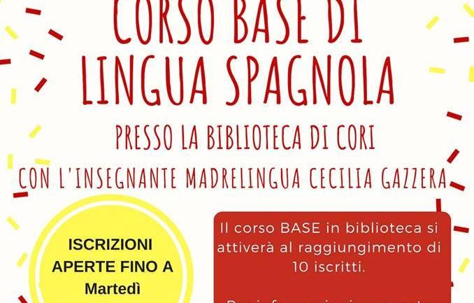 ¿Habla español? A Cori sono aperte le iscrizioni al corso base di lingua spagnola