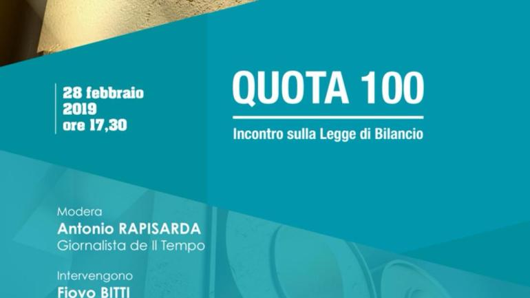 """Roma. Domani convegno sulla """"Quota 100"""" con Durigon e Capone"""