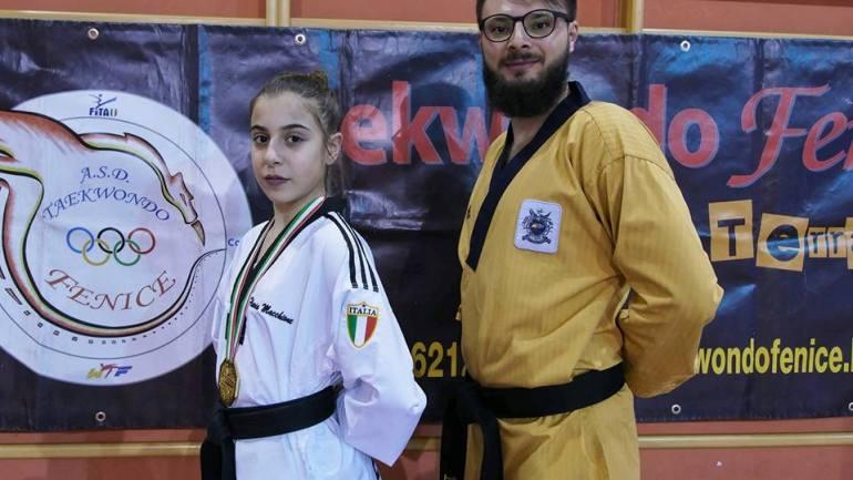 Terracina.  Flavia Macchione campionessa italiana cinture nere cadetti
