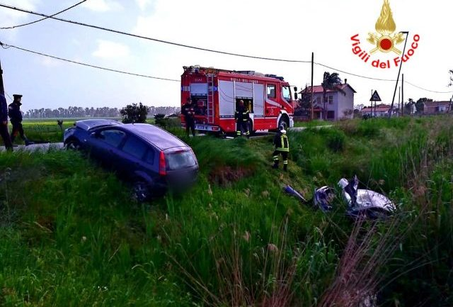 Terracina. Incidente in via Capo dei Bufali, un ferito in ospedale