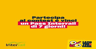 Lazio Youth Card:50 pass interrail gratuiti
