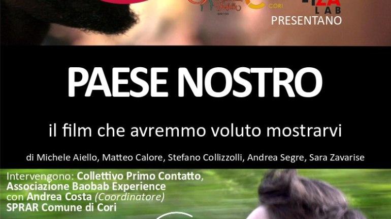 Paese Nostro: a Cori la proiezione del docufilm sull'Italia dell'accoglienza diffusa