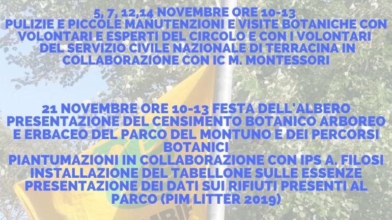 Terracina. Legambiente Pisco Montano porta la Festa dell'Albero al parco del Montuno