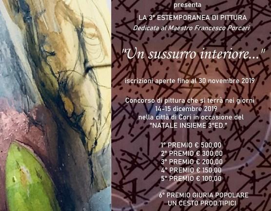 Cori. 3^ Estemporanea di pittura in memoria del maestro Francesco Porcari