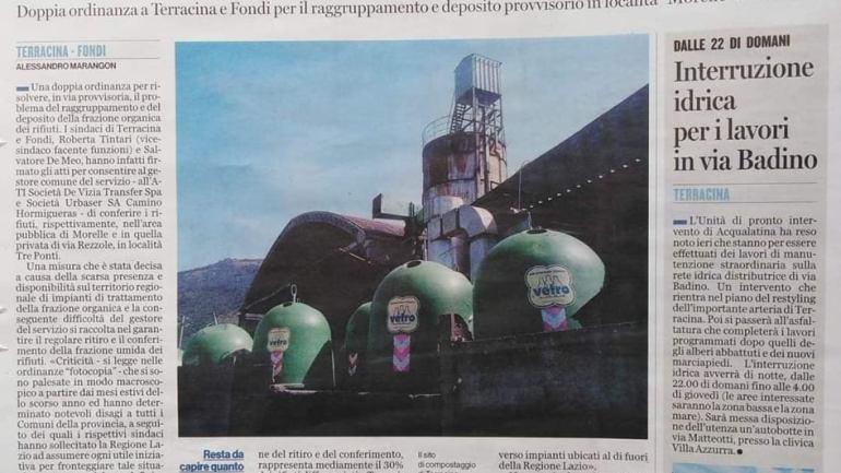 """Simeone (FI):""""Rifiuti, la Regione Lazio faccia chiarezza"""""""