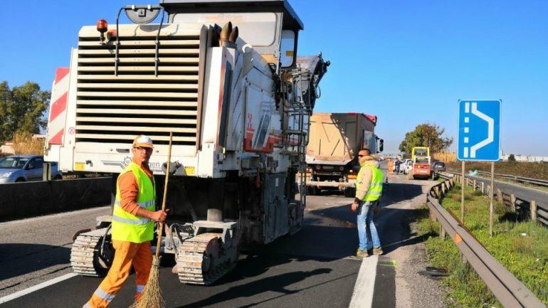 Sulla 148 Pontina lavori di rifacimento asfalto