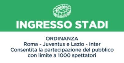 Ingresso stadi: l'ordinanza della Regione Lazio. 1000 spettatori per Roma – Juve e Lazio – Inter