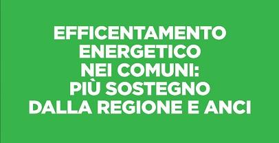 Ambiente: protocollo con Anci per supporto Comuni – efficientamento energetico