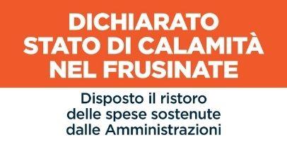 MALTEMPO: DICHIARATO STATO DI CALAMITÀ NEL FRUSINATE