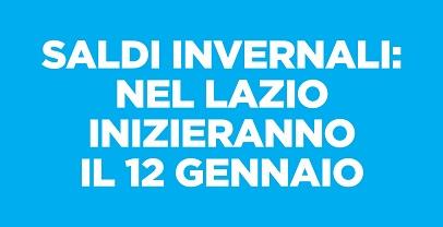 Saldi invernali: nel Lazio inizieranno il 12 gennaio