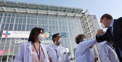 Covid 19: inaugurato centro vaccinazione anti covid la Nuvola