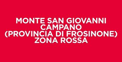 Covid-19: Monte San Giovanni Campano, zona rossa