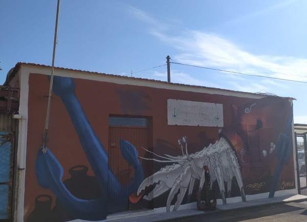 Terracina, Giornata dedicata al Mare, con realizzazione opera di street art sul sito dell'Associazione Marinai d'Italia