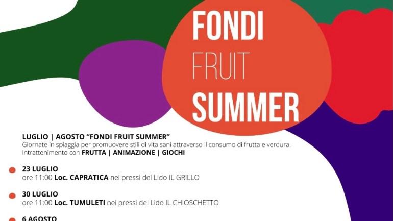 """Anno Internazionale della Frutta e della Verdura: al via il """"Fondi Fruit Summer"""""""