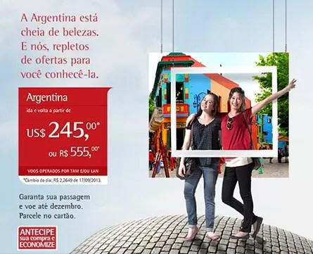 Promoção TAM para Argentina