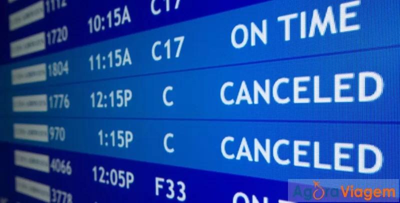Atrasos ou cancelamentos de voos