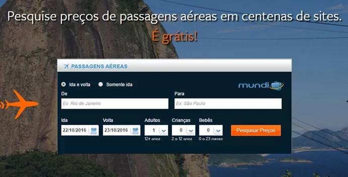 Comparador de preço de passagens aéreas