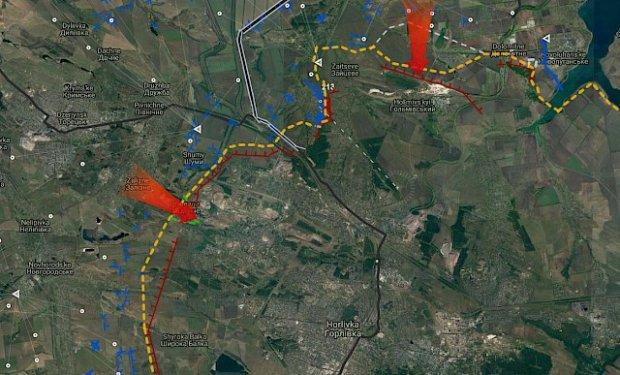 Carte des offensives ukrainiennes