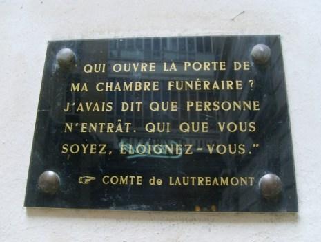 Lautremont plaque