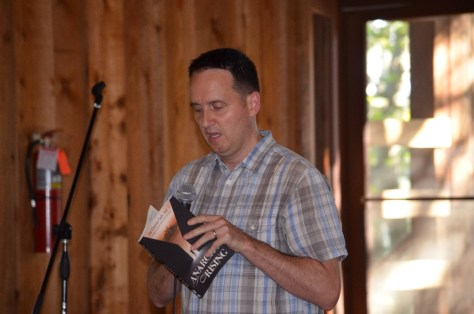 Author Richard Walsh. Each author read an excerpt and said a word about their experience with the project