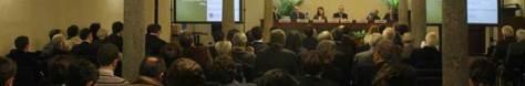 Il tavolo dei relatori e una vista d'insieme dell'Assemblea Agostini semper 2014